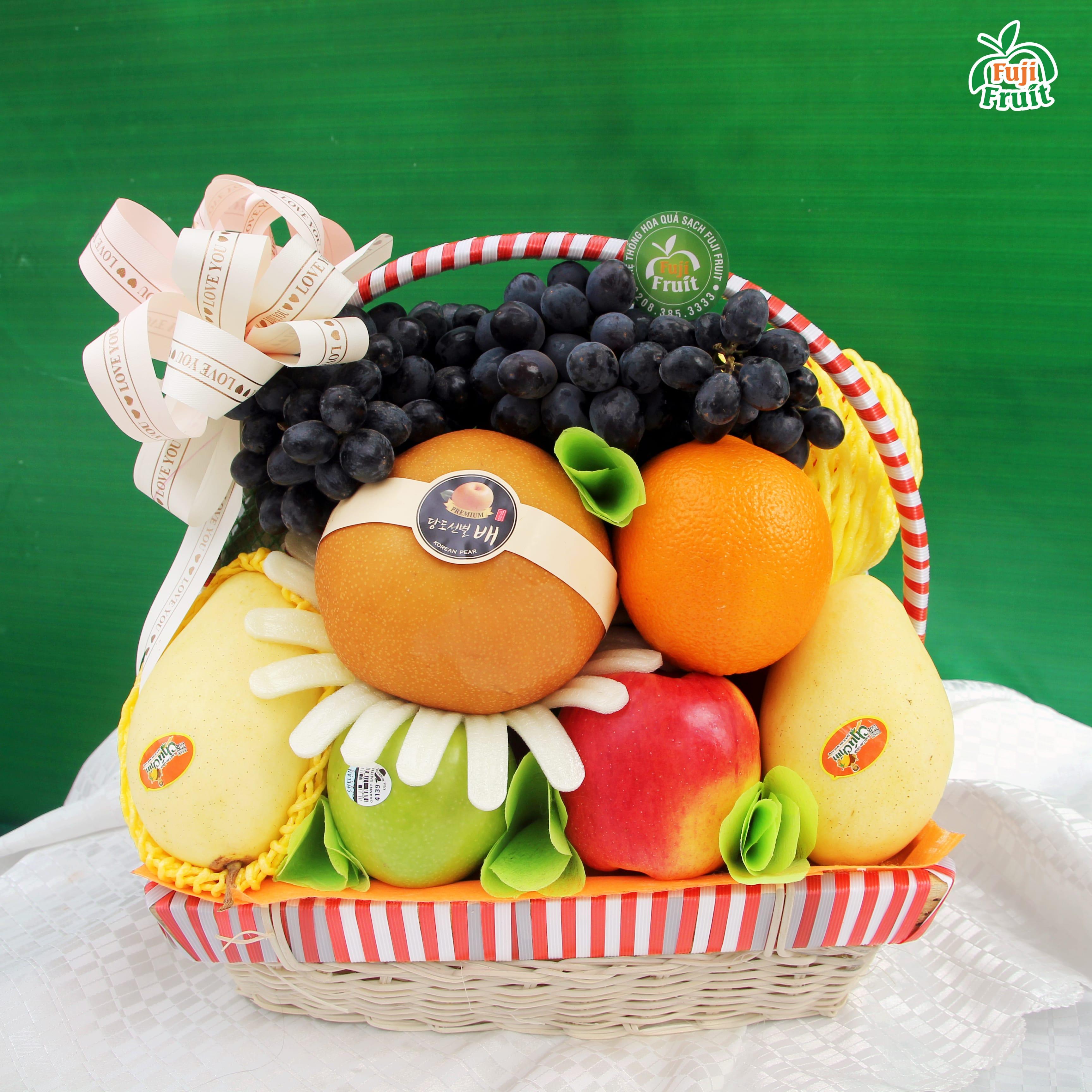 Xu hướng giỏ hoa quả trái cây nhập khẩu mấy năm gần đây đang rất được ưa chuộng